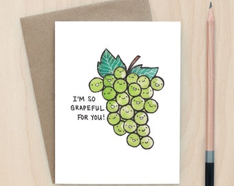 Grapeful for You - A2 Greeting Card