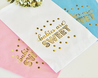 Baby Shower Favor Bags, Baby Shower Candy Bar, Baby Shower Decor, Baby Shower