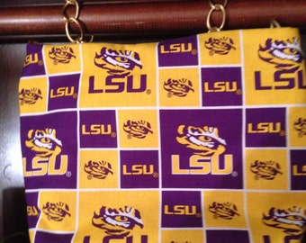 LSU Crossbody small lightweight bag Chain strap