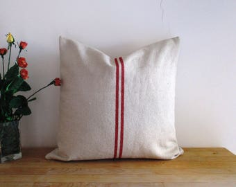 20 x 20  French Grain Sack Traditional Style Cushion Cover
