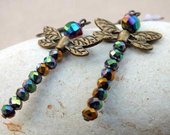 Dragonfly Earrings. Lightweight Modern Earrings. Everyday Earrings. Gifts for her