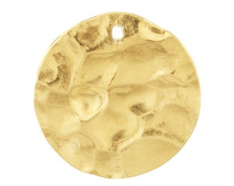 14k Gold Filled Hammered Round Disc.-10mm, select a quanitity