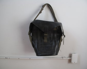 WWII Army Rubberized Canvas Bag
