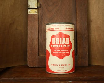 Driad Powder Paint  Container, #1500 Turq. Blue, Binney & Smith