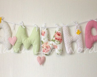 Stuffed toy letter