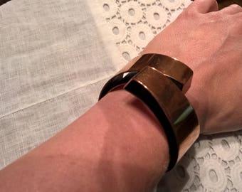 Renoir copper hinged cuff bracelet
