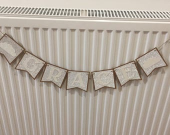 Personalised Glitter Card Bunting