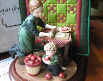 "AMISH QUILTS - Amish Heritage Figurine ~ ""Rachel and Daniel Mother's Little Helper"""""
