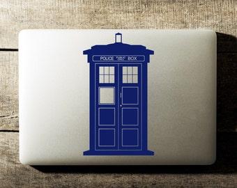 Doctor Who Tardis Laptop Decal iPad