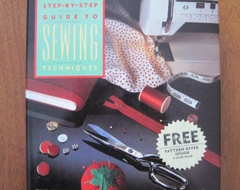 Guide to SEWING Techniques, The Vogue/Butterick, Step by Step Guide, A-Z, Applique to Zipper, Hardcover, 1989, Vintage
