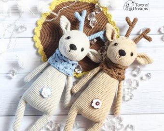 Crochet deer Amigurumi deer Stuffed deer Plush deer Woodland animal Baby gift toy Soft toy Crochet deer toy Amigurumi animals Stuffed Animal