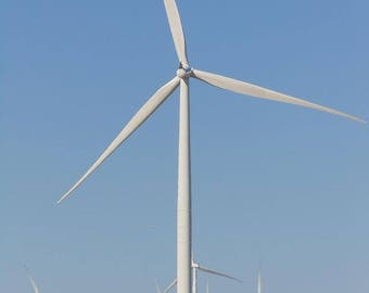 Wind Farm in North Texas near the Red River