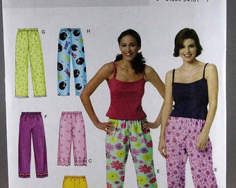 Butterick 3314, Misses'/Misses' Petite Top, Shorts and Pants Sewing Pattern, Misses' Sleepwear/Lounge Wear Pattern, Sizes XS, S, M, Uncut