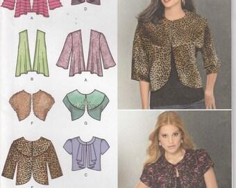 Jacket Pattern Short Waist Coat Knit and Woven Fabrics Misses Size 6 - 8 - 10 - 12 - 14 Uncut Simplicity 1943
