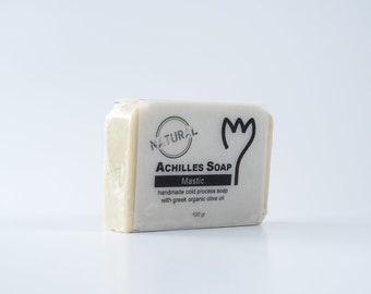 100% Greek Organic Olive Oil Soap - Mastic Soap - Natural Soap - Handmade Cold Process Soap