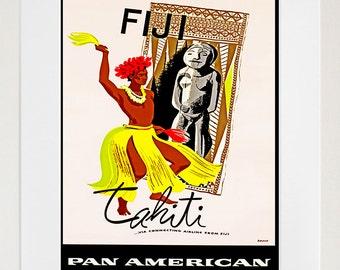Travel Poster Fiji Art Print Vintage Home Decor (ZT116)