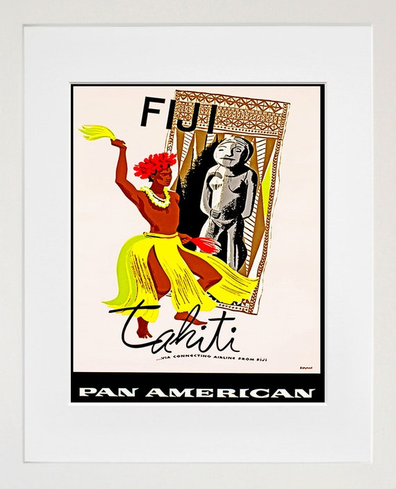 Travel Poster Fiji Art Print Vintage Home Decor ZT116