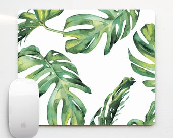Mouse Pad Palm Leaves Computer Floral Mouse Pads Office Decor Tropical Leaves Mouse Mat Accessories Tropics Mousemat Palm Leaf Mice PP5058