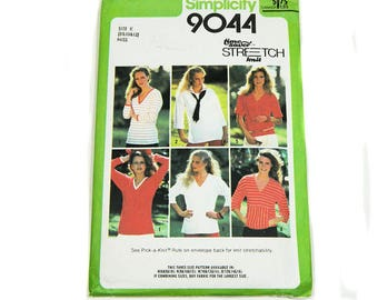 Uncut Sewing Pattern Simplicity 9044 Pullover Tops 1979