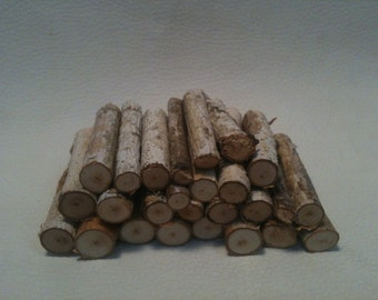Dollhouse Miniature Firewood Pile Stack of Logs