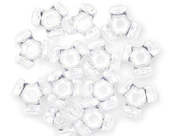 480 - 11MM Crystal Clear Tri-Beads - a must have for your holiday craft/jewelry making