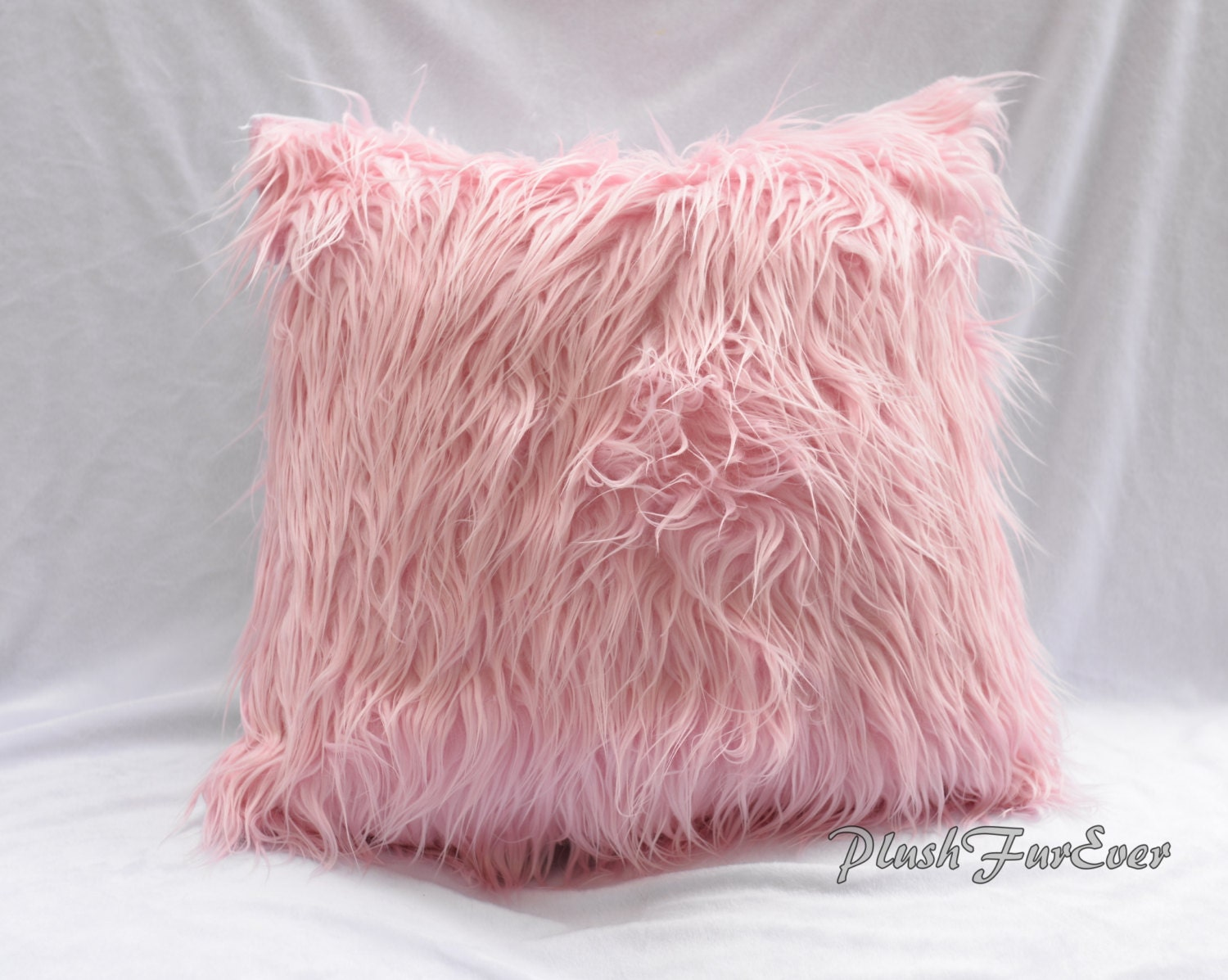 Faux Fur Home Decor Pillows 17 x 17 Inserts