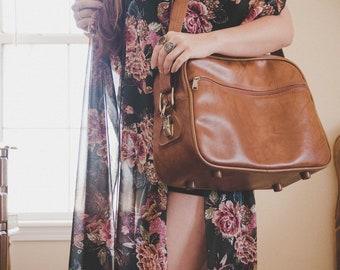 Vintage Caramel American Tourister Carry-on Bag