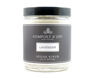 Lavender Sugar Scrub Body Scrub Exfoliate Apothecary Body Polish Green Beauty