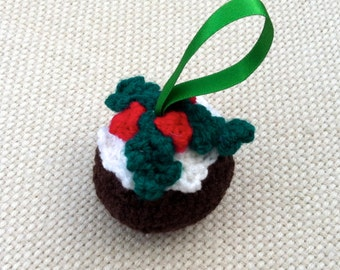 Christmas Pudding Crochet Ornament/Christmas Decoration
