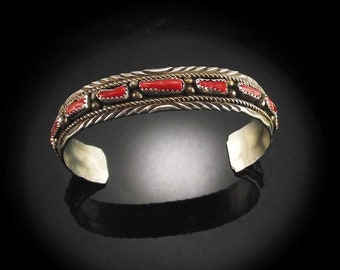 Native American Branch Coral Bracelet
