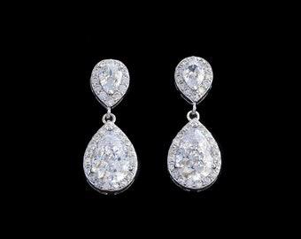 Braut Ohrringe, Kronleuchter Ohrringe, Ohrringe, Kristallohrringe,  Ohrringe, Hochzeitsohrringe   NICOLA