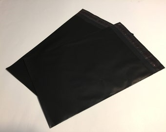 100  7.5 x 10.5 BLACK Poly Mailers  Self Sealing Envelopes Shipping Bags Halloween