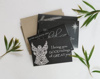 3 Packets of 8 x Chalk Art Christmas Cards designed & printed in Australia with a premium matte finish and blank inside.