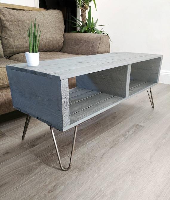 Rustic Wood Pallet Coffee Table: Retro Coffee Table TURVAS Rustic Reclaimed Pallet Wood 5