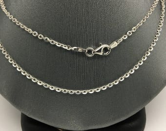 925 Sterling Silver Rhodium Cable Chain ~2.10mm
