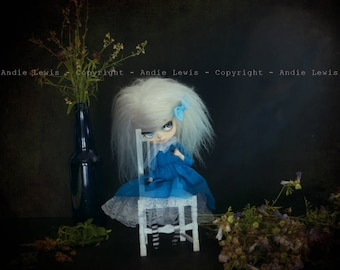 "Tirage simple 13x13cm ""Little Ghost"" - Pullip Isul Dal photographie, doll art collection, impression deco no BJD no Blythe"
