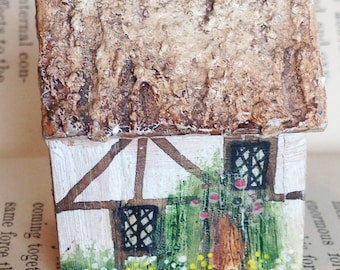 handcrafted Henley in Arden England thatched tudor miniature house