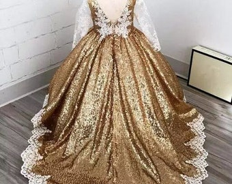 The Stella Gold Sequined Dress