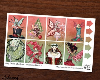 Amy Brown Christmas Erin Condren Planner Stickers Weekly Kit
