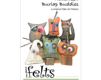Halloween Burlap Buddies - A Creative Fiber Art Pattern