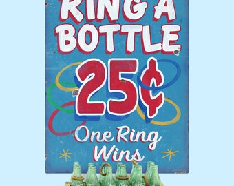 Ring a Bottle Carnival Game Wall Decal - #59422