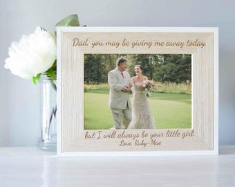 Father Of The Bride Gift - Gift For Dad - Wedding Gift For Father Of The Bride - Gift From Bride - Personalized Picture Frame - Fathers Day