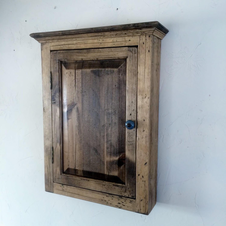 White Pine Cabinets: Distressed Farmhouse Primitive White Pine Cabinet