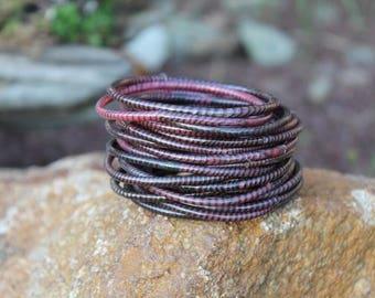 PINOT NIOR Recycled Flip Flop Bracelets - Made over coal fire. Fair Trade.