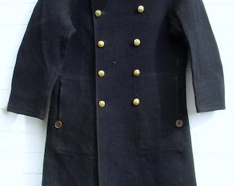 WWII Japanese fireman's coat   indigo weave