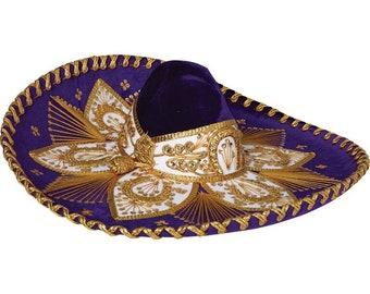 Sombrero Charro Morado/Dorado