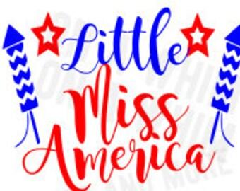 Little Miss America SVG 4th of July SVG