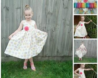 Gracelyn Dress Girls PDF Pattern Sizes 2 3 4 5 6