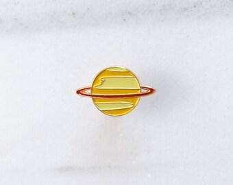SATURN Pin - Enamel Pin, Lapel pin, Pins, Enamel Pins, Pin, Planet pin, Gold enamel pin, Soft enamel pin, Saturn.