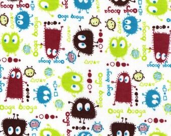 EARTH Ooga Booga, Cotton Interlock Knit Fabric, 19 x 60 inches